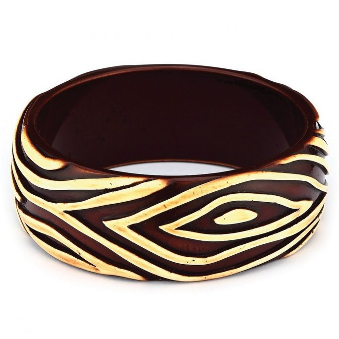 Bangle Animal Print 68mm Made With Resin by JOE COOL