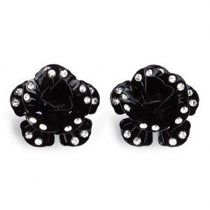 Stud & Drop Earring Studded Rose Made With Tin Alloy & Crystal Glass by JOE COOL