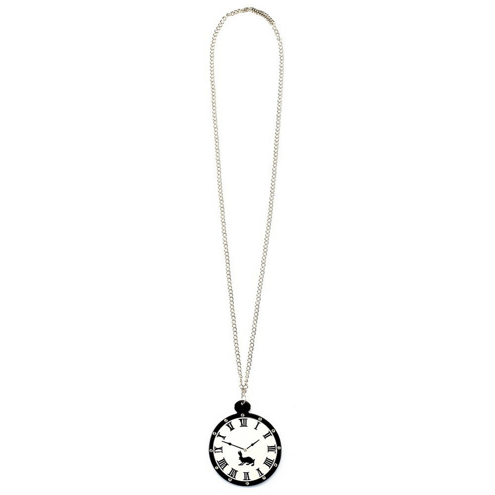 Necklace With A Pendant Clock 84cm Made With Crystal Glass & Acrylic by JOE COOL