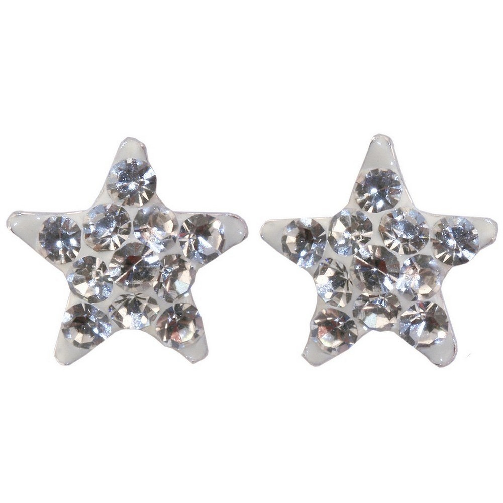 Stud Earring Star Made With Crystal Glass & 925 Silver by JOE COOL