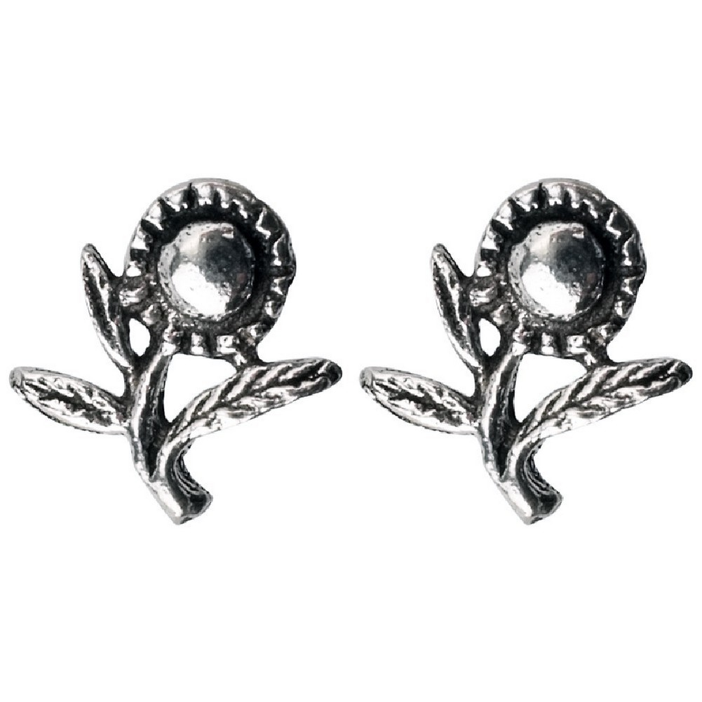 Stud Earring Assorted Small Designs Sunflower Made With 925 Silver by JOE COOL