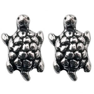 Stud Earring Assorted Small Designs Turtle Made With 925 Silver by JOE COOL