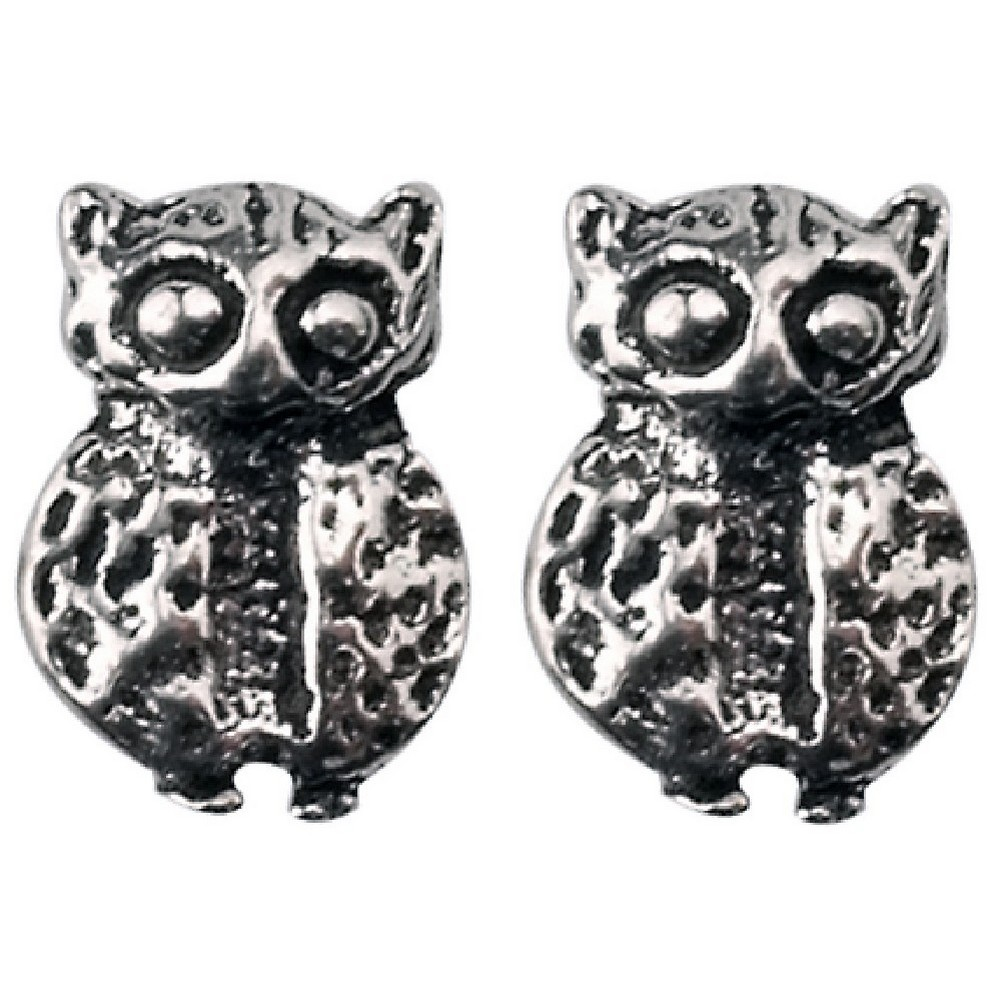 Stud Earring Assorted Small Designs Owl Made With 925 Silver by JOE COOL