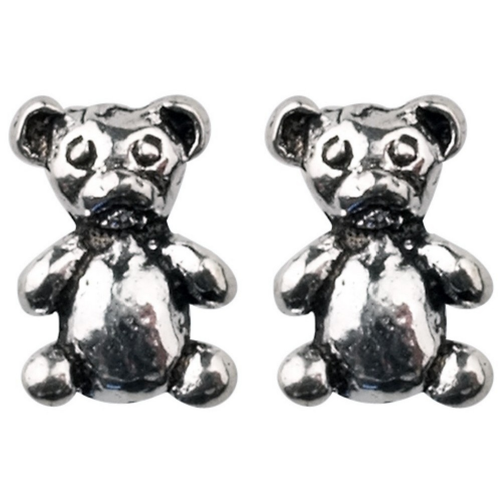 Stud Earring Assorted Small Designs Bear Made With 925 Silver by JOE COOL