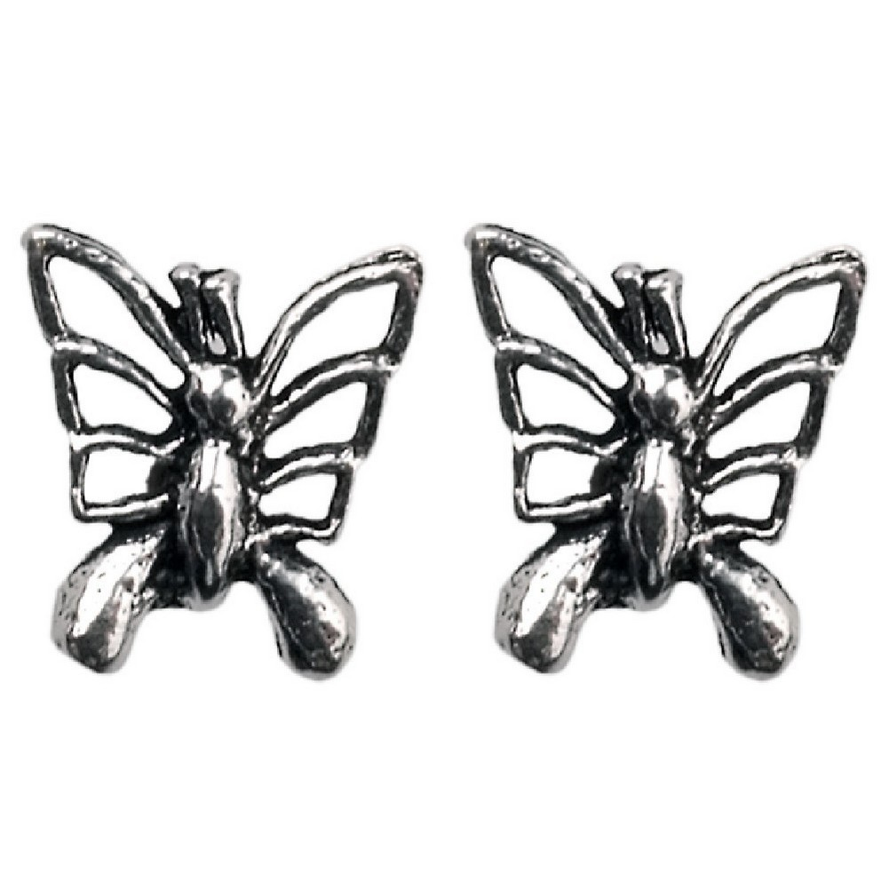 Stud Earring Assorted Small Designs Butterfly Made With 925 Silver by JOE COOL