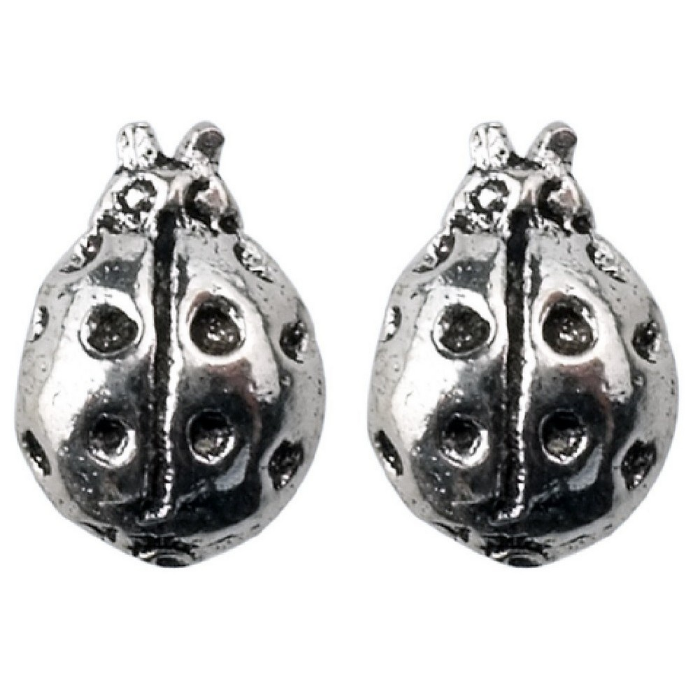 Stud Earring Assorted Small Designs Ladybird Made With 925 Silver by JOE COOL