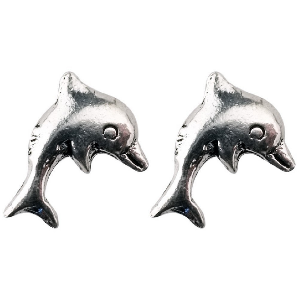 Stud Earring Assorted Small Designs Dolphin Made With 925 Silver by JOE COOL
