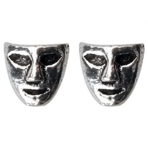 Stud Earring Assorted Small Designs Mask Made With 925 Silver by JOE COOL