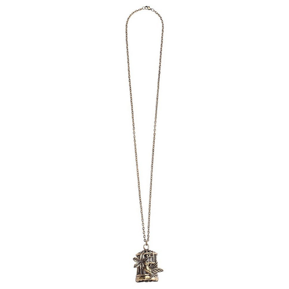 Necklace With A Pendant Bird Cage Made With Zinc Alloy & Gold Plated by JOE COOL