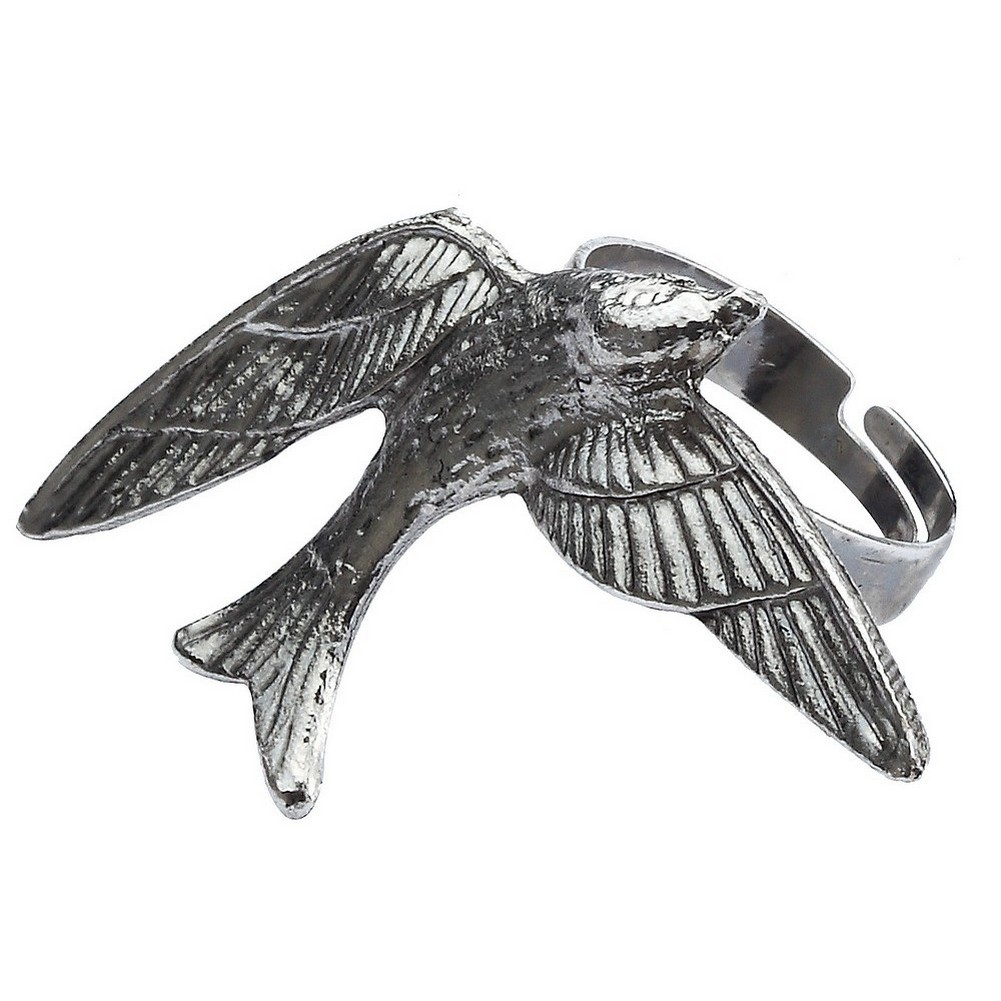 Ring Swallow In Flight Made With Zinc Alloy by JOE COOL