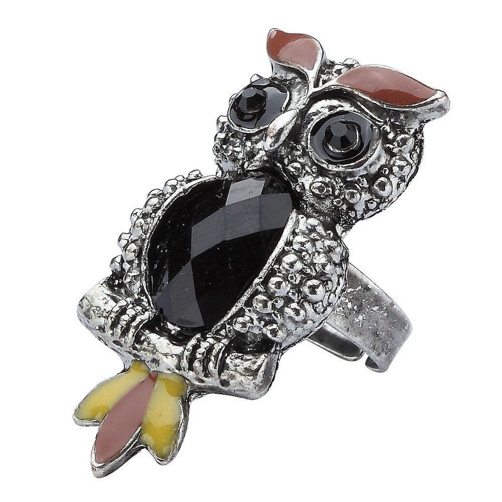 Ring Owl Made With Tin Plate & Zinc Alloy by JOE COOL