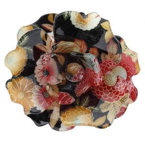 Brooch Floral Print Flower Made With Acrylic by JOE COOL