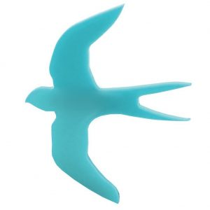 Brooch Swallow Made With Acrylic by JOE COOL