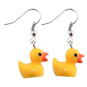 Drop Earring Duck Made With Resin by JOE COOL
