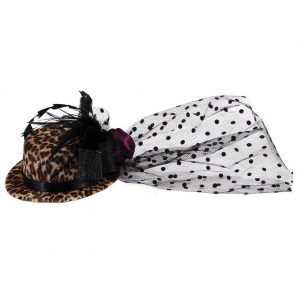 Hairwear Animal Print Hat With Crocodile Clip 135mm Made With Fabric by JOE COOL