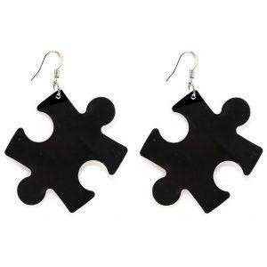 Drop Earring Jigsaw Large 53mm by JOE COOL
