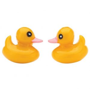 Stud Earring Delightful Duck Made With Resin by JOE COOL