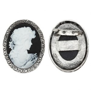 Brooch Cameo Made With Tin Alloy by JOE COOL