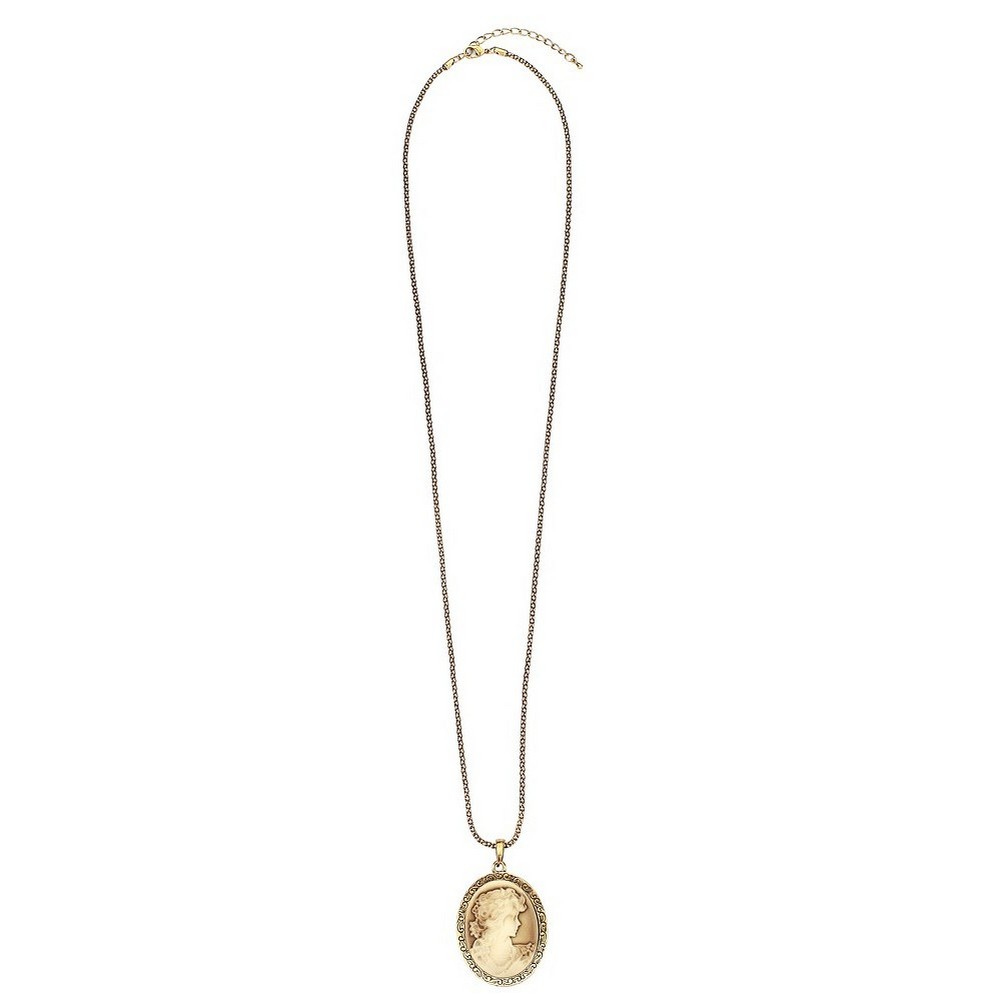 Necklace With A Pendant Cameo Made With Gold Plated by JOE COOL