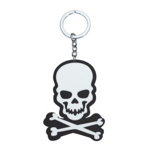Keyring Skull & Bones Fob Made With Acrylic by JOE COOL