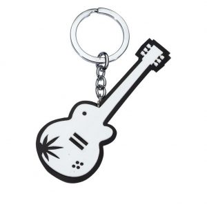 Keyring Guitar With Canabis Leaf Made With Acrylic by JOE COOL