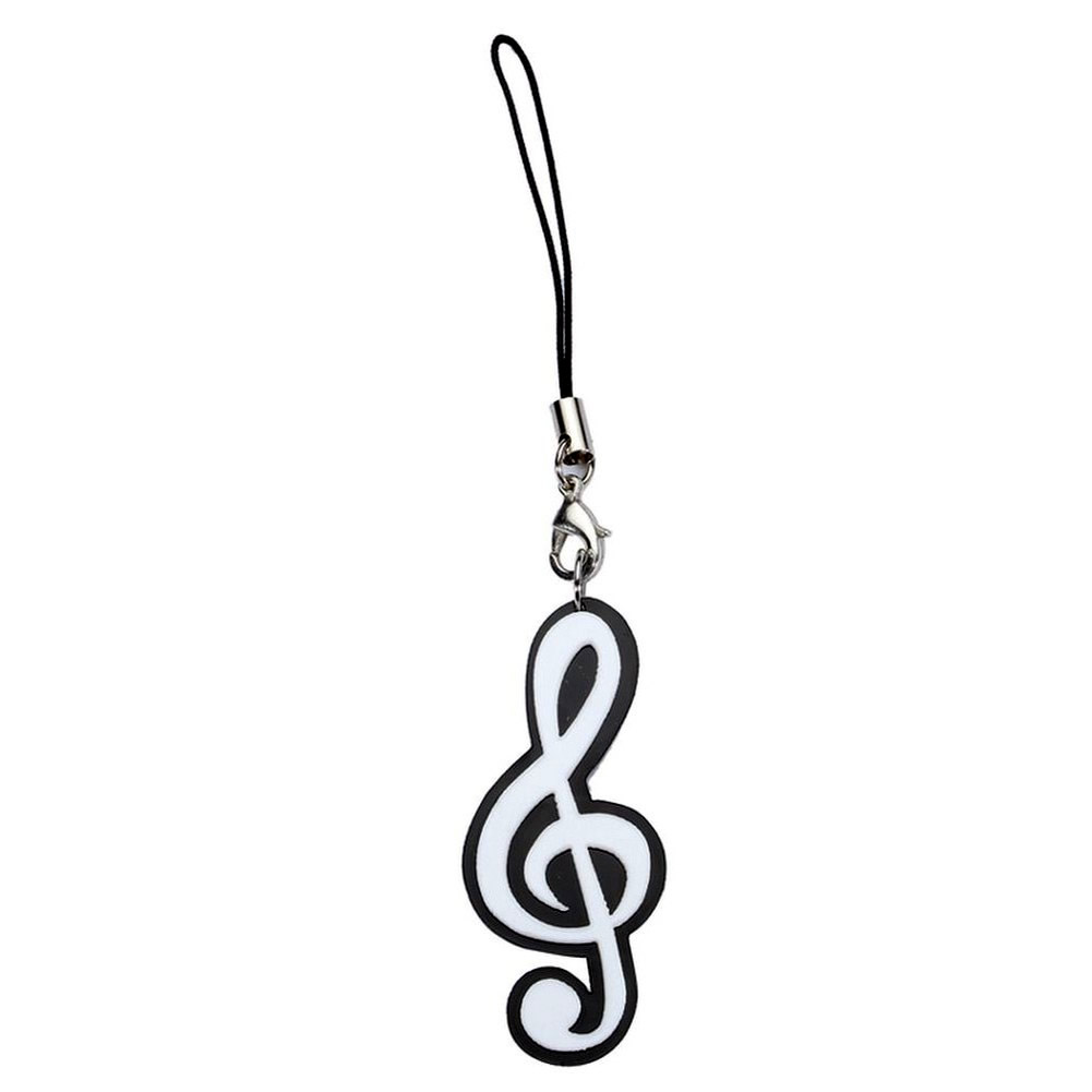 Phone Charm Treble Clef Fob Made With Acrylic by JOE COOL