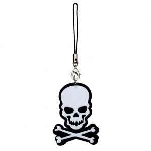 Phone Charm Skull And Crossbones Fob Made With Acrylic by JOE COOL