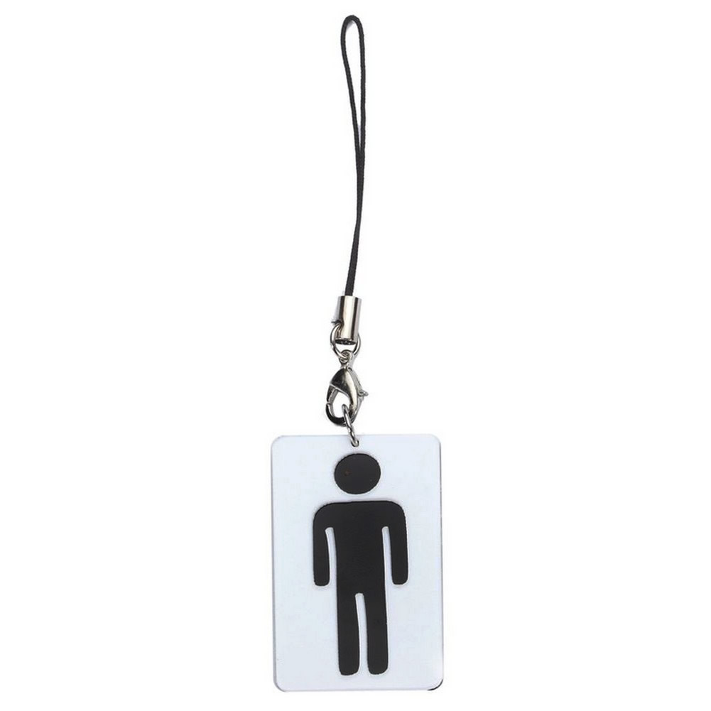 Phone Charm Gents Sign Fob Made With Acrylic by JOE COOL