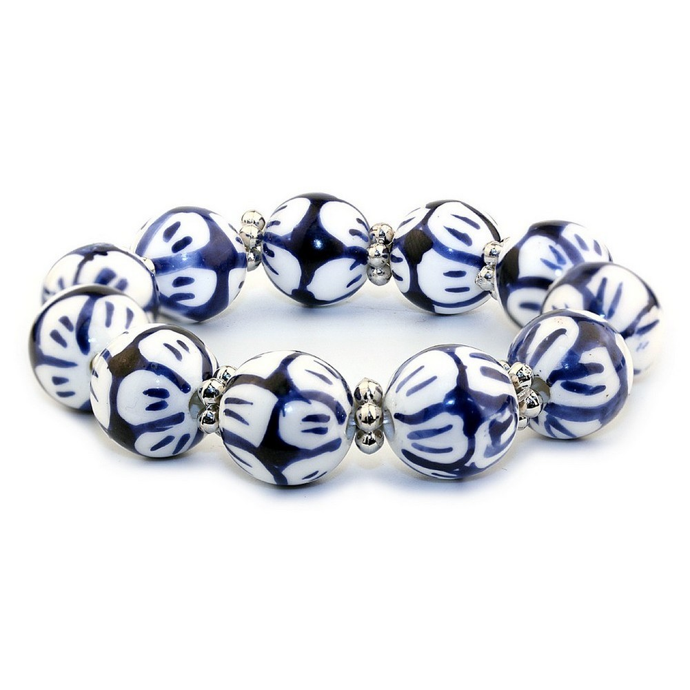 Bracelet Tea Garden Beads Made With Ceramic by JOE COOL