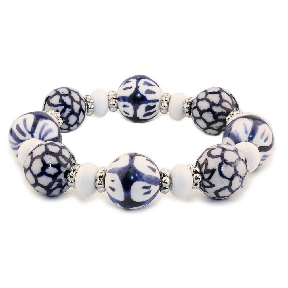 Bracelet Tea Garden Beads Made With Ceramic by JOE COOL