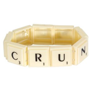 Bracelet With Square Alphabet Letters Made With Resin by JOE COOL
