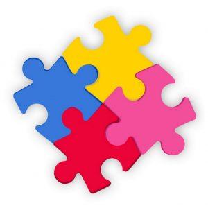 Brooch 4 Piece Jigsaw by JOE COOL