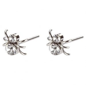 Stud Earring Spiders Made With Crystal Glass by JOE COOL