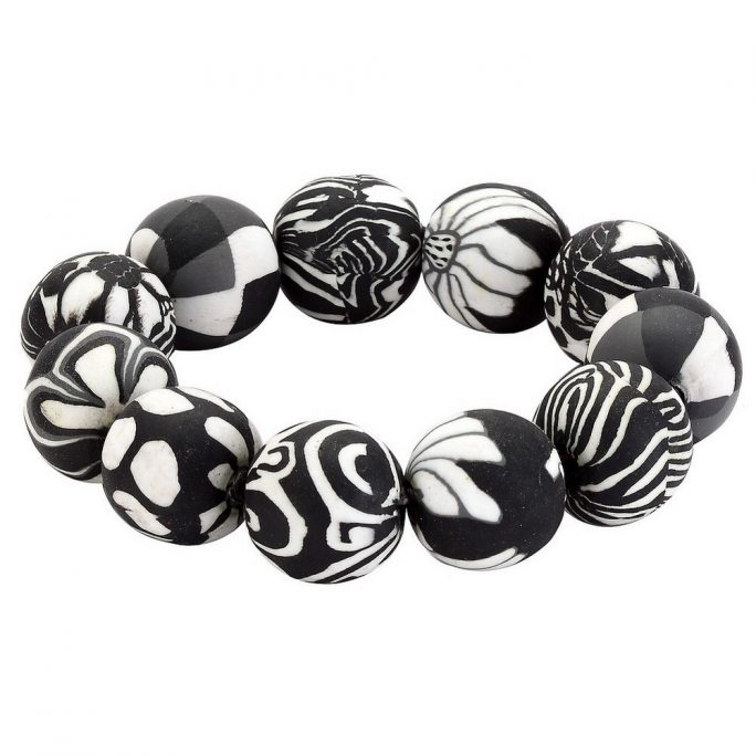 Bangle 20mm Beads Elasticated Made With Resin by JOE COOL