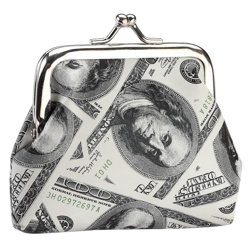 Coin Purse Dollar Bill Decoupage Effect Made With Pu by JOE COOL