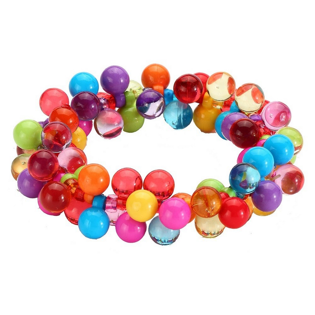 Bracelet Rainbow Cluster Ball Beads Made With Acrylic by JOE COOL