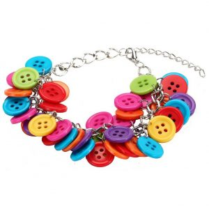 Bracelet Cluster Button Beads Made With Acrylic by JOE COOL