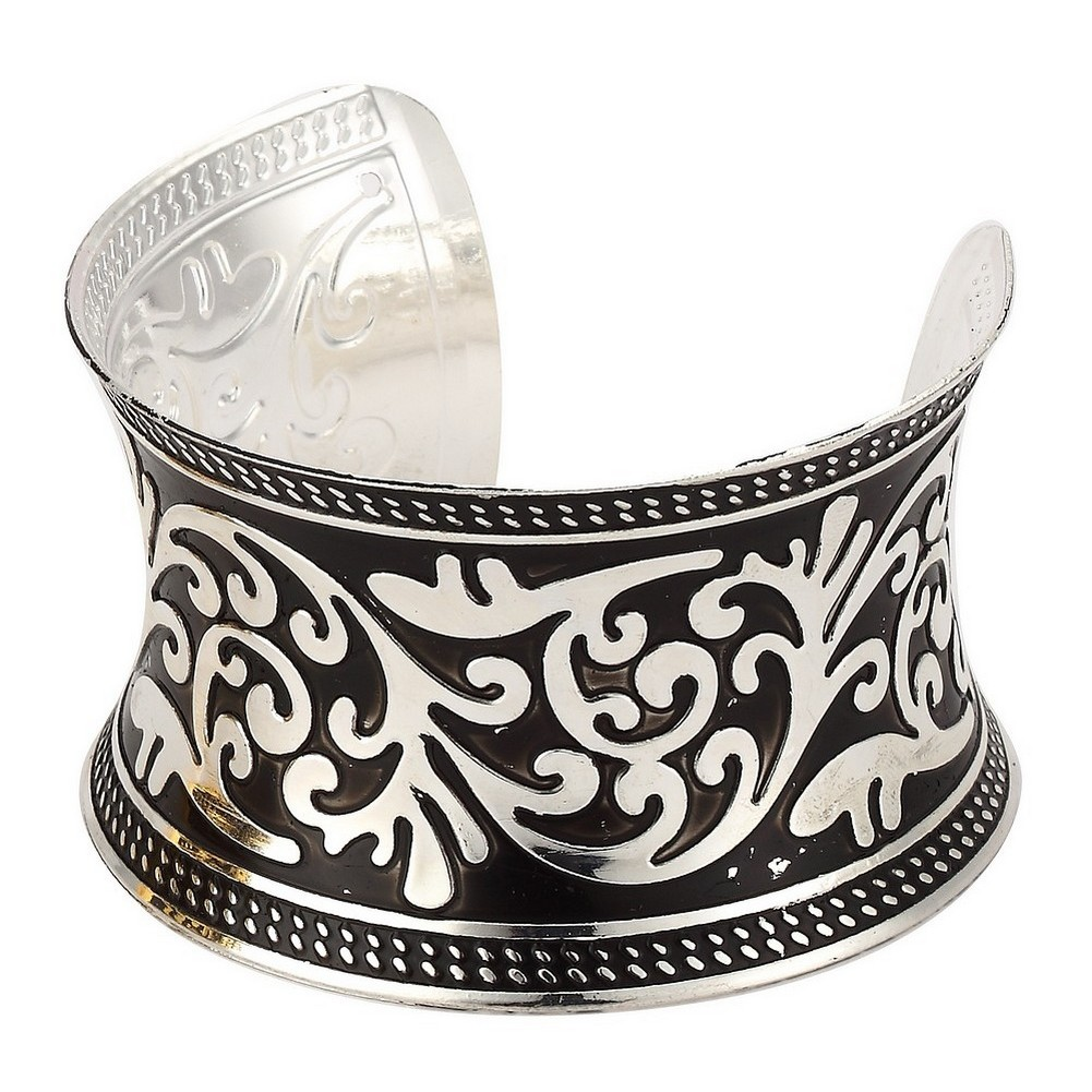 Bangle Embossed Cuff Made With Tin Alloy by JOE COOL