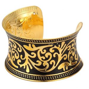 Bangle Indian Traditional Embossed Cuff Made With Tin Alloy by JOE COOL