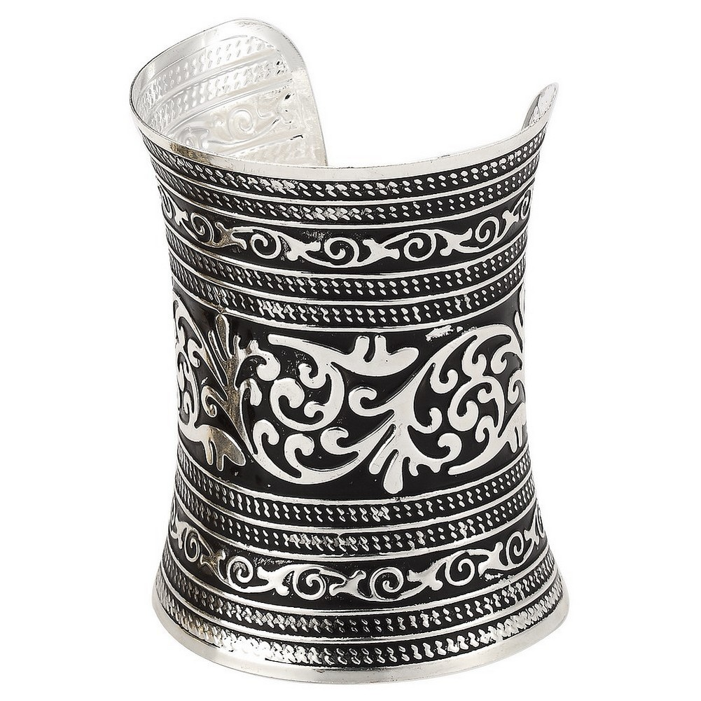 Bangle Embossed Cuff With Finish 100mm Made With Tin Alloy by JOE COOL