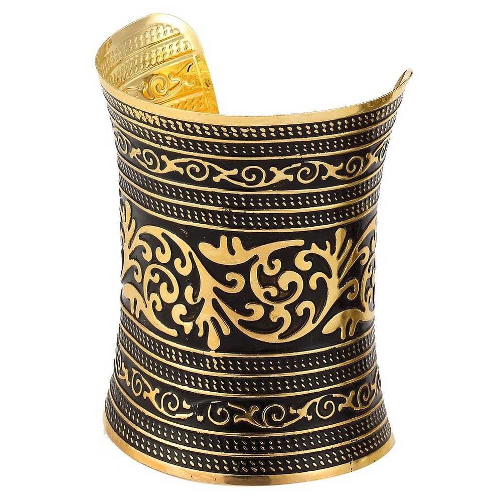 Bangle Traditional Indian Embossed Cuff Made With Tin Alloy by JOE COOL