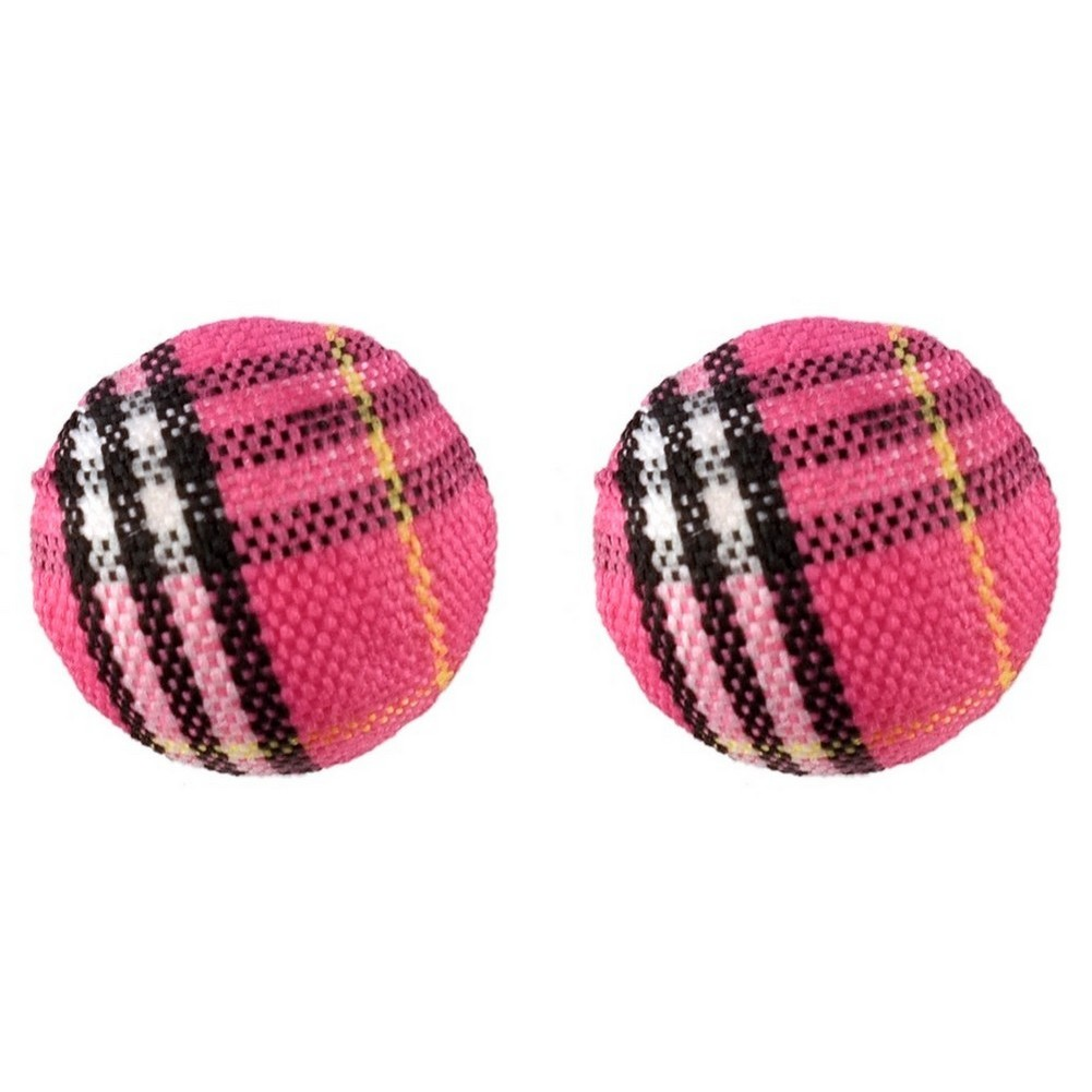 Stud Earring Tartan Ball Bead Made With Acrylic by JOE COOL
