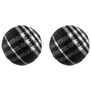 Stud Earring Tartan Ball Bead Made With Acrylic by JOE COOL