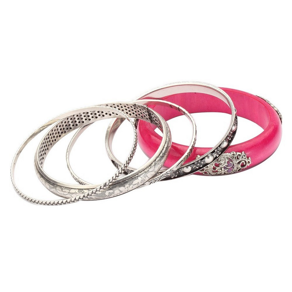 Bangle Etched Ethnic Style With Made With Wood & Zinc Alloy by JOE COOL