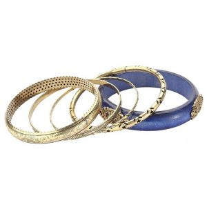 Bangle Etched Ethnic Style With Antique Made With Wood & Zinc Alloy by JOE COOL