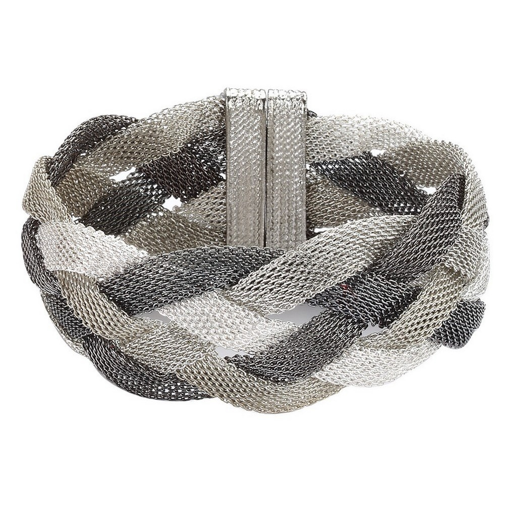 Bracelet Four Tone Weave Made With Tin Alloy by JOE COOL