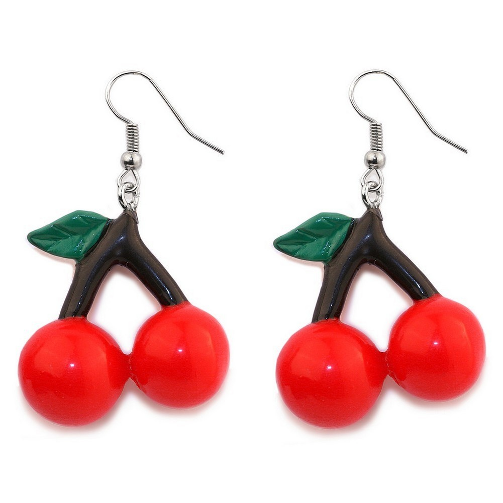 Drop Earring Cherries Made With Acrylic by JOE COOL