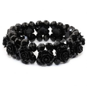 Bracelet Band Of Roses In Made With Crystal Glass & Stone by JOE COOL