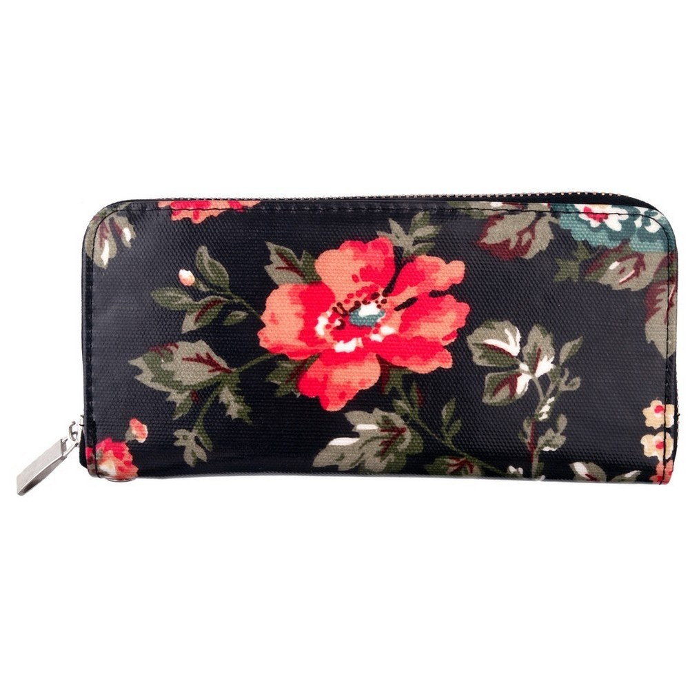 Zip Wallet Floral Made With Pu by JOE COOL