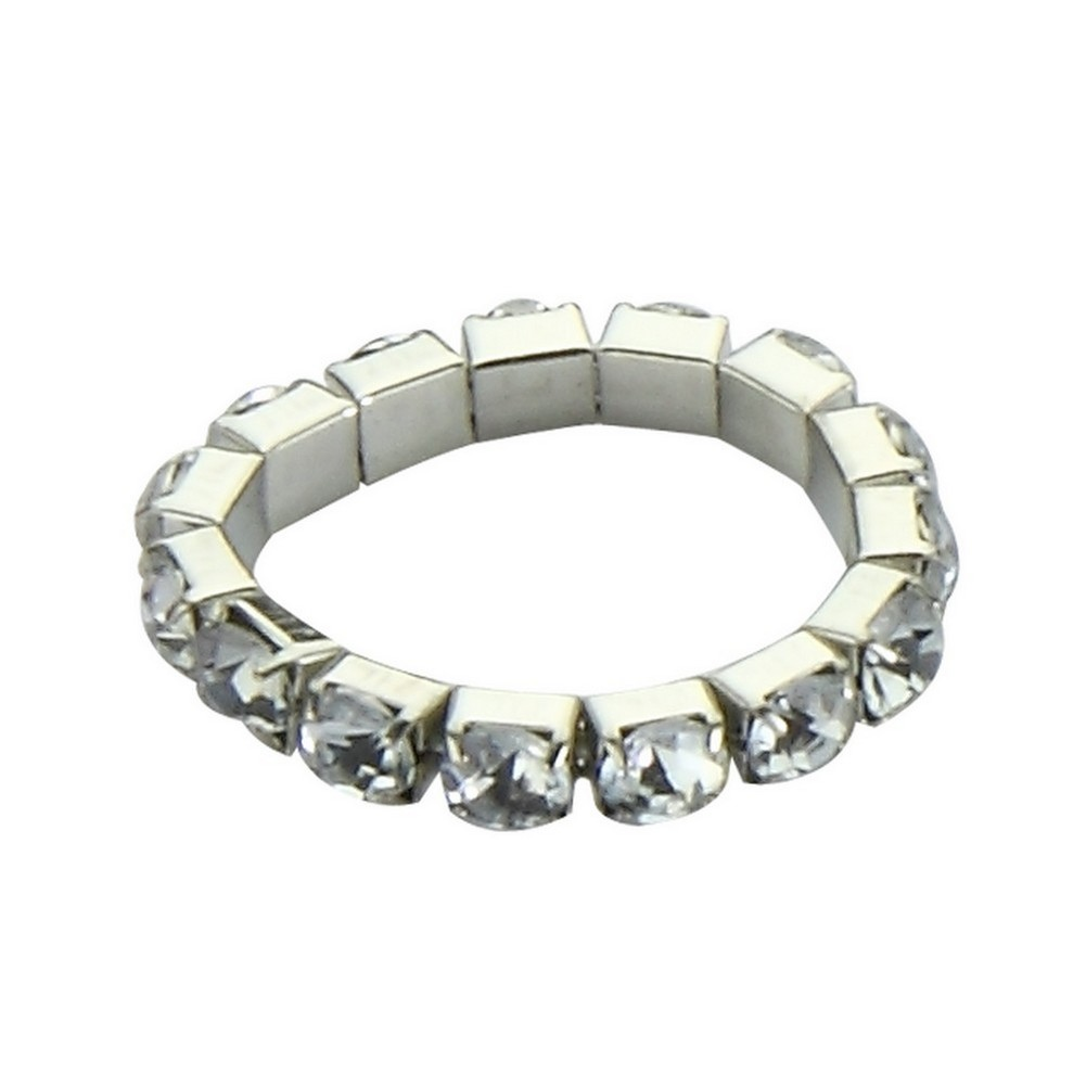 Ring Faceted Beads Elasticated Made With Acrylic & Tin Alloy by JOE COOL